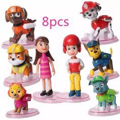 bonecos patrulha canina kit com 8 personagens pronta entrega