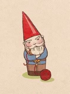Knitting Gnome (large)