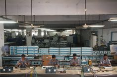 Dedicated assembly line for individual product lines.