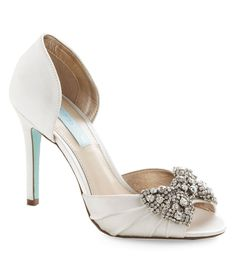 White and Rhinestone Wedding Shoes - Dark Turquoise Wedding Inspiration with Floral Details