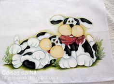 pintura em tecido cachorros