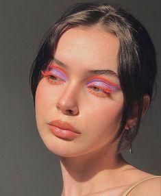 Cute Makeup Looks, Makeup Eye Looks, Eye Makeup Art, Pretty Makeup, Skin Makeup, Beauty Makeup, Edgy Makeup, Makeup Goals, Makeup Inspo