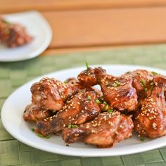 Baked Hoisin Chicken Wings - Salu Salo Recipes//use boneless breasts Hoisin Chicken, Korean Fried Chicken, Fried Chicken Wings, Tandoori Chicken, Baked Chicken, Asian Chicken, Chicken Meals, Chicken Tenders, Roasted Chicken
