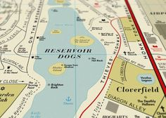 Design Porn - We Are Dorothy film map. Films and maps in one?!!! Hoorah!