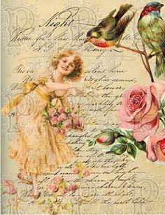 Decoupage Paper '' Flowers'' More Decoupage Vintage, Decoupage Art, Vintage Diy, Vintage Labels, Vintage Ephemera, Vintage Cards, Vintage Paper, Vintage Postcards, Vintage Flowers