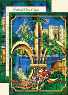 Louisiana Greeting Cards - Cajun Greeting Cards - Louisiana Christmas Fleur-de-lis Christmas Cards