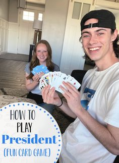 How to Play President (AKA Scum). This fun card game is simple and so fun to play. President is perfect for all groups. Family Card Games, Fun Card Games, Card Games For Kids, Playing Card Games, Games For Teens, Therapy Games, Play Therapy, Therapy Activities, Speech Therapy
