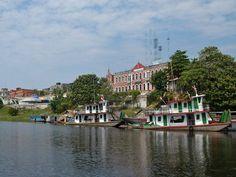 Reaching Iquitos by river.....COLEGIO ANTIGUO DE SAN AGUSTÍN