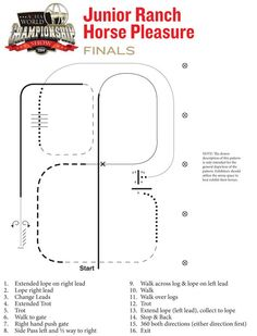 Here is the pattern for the 2014 #AQHAWorldShow junior #RanchHorsePleasure finals.