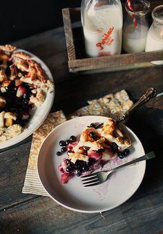 peach blueberry pie by hannah * honey & jam, via Flickr