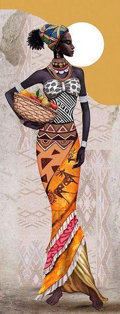Resultado de imagen para mujer africana dibujo para colorear