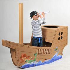 Piratenboot: dramatisch spel.