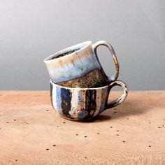 small cups mini unique blue black collection by EeliArtStudio