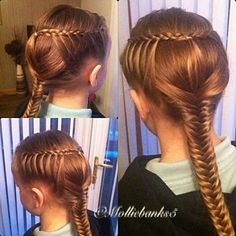 Braided hairstyle for toddler girl..