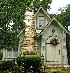 """Hugh Comstock was very familiar with Arthur Rackham's illustrations. When his wife asked him to build her a showroom for her handmade rag dolls """"Otsy-Totsys"""", the first time builder looked to Arthur Rackman's illustrations and built his wife a Rackham-inspired cottage, called Hansel. Hugh found his life's calling in the building of the cottage and proceeded to build twenty one more, all of which can still be found in Carmel today."""
