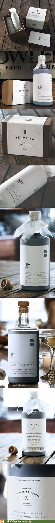 Beautiful package design and press kit for BÄ'T Vodka by Jillian Frey of KNOCK.