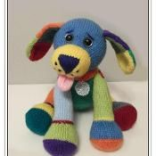 Jacob the multi-coloured puppy - via @Craftsy