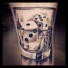 dice tattoo cool design
