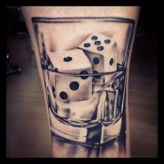 dice tattoo cool design