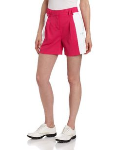 Puma Golf NA Womens Color Block Shorts CabaretWhite 4 >>> Check this awesome product by going to the link at the image.(This is an Amazon affiliate link and I receive a commission for the sales)