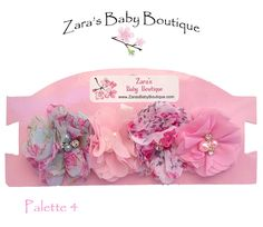 4 Chiffon Flower Hair Clips, White Clips, Ivory Clips, Pink Clips, Lavender ClipsBaby Girls, Toddlers, Ladies, ZBB by ZarasBabyBoutique on Etsy