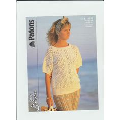 f106474bd29184 Knitting Pattern - Patons 8272- Teen Lady s Cotton DK Short Sleeved Top 30- 40