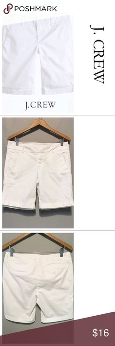 J. Crew White Andie Shorts ~~~ J. Crew White Andie Shorts ~~~ Size 8 ~~~ Waist 30 laying flat ~~~ Hips 38 ~~ Rise 9 ~~~ Inseam 8.5 ~~~ Cotton/spandex blend ~~~ Like new, no flaws ~~~ NO TRADES PLEASE 💕 J. Crew Shorts