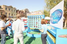 Power of Youth event, a larger-than-life game of Connect Four tested guests' strategy skills.