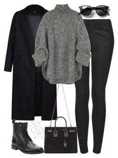 35 Beautiful Winter Outfits For Women - mode All Black Outfits For Women, Black And White Outfit, Black Women Fashion, White Outfits, Look Fashion, Winter Fashion, Clothes For Women, Womens Fashion, Dress Black