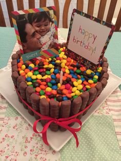 Torta Sweet Heart Twix, m&m's and Nutella!