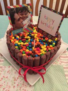 Torta Sweet Heart Twix, m&m's and Nutella!
