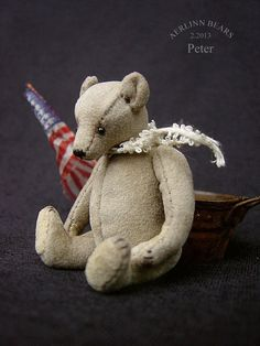 Peter+Miniature+Mini+Collectible+Artist+Bear+from+by+aerlinnbears
