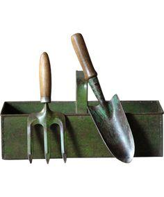 Vintage English Industrial Metal Basket #DIYWeekendRubyLane Garden Trowel, Garden Tools, Garden Inspiration, Design Inspiration, Shabby Chic Garden, Metal Baskets, Industrial Metal, Antique Art, Garden Furniture