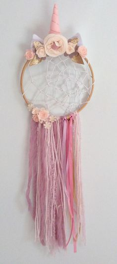 Dreamcatcher reserved for kaley dr pinterest unicorn dreamcatcher boho dream catcher party unicorn dream catcher mightylinksfo