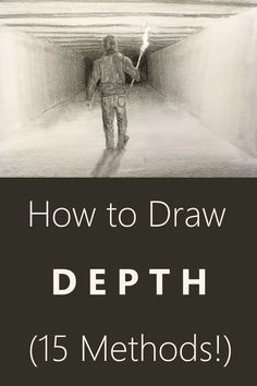 Drawing tutorial for creating depth. 15 Proven ways including examples. Pen drawing and pencil drawing guide. Drawing tutorial for creating depth. 15 Proven ways including examples. Pen drawing and pencil drawing guide. Easy Pencil Drawings, Pencil Drawing Tutorials, Art Drawings Sketches, Art Tutorials, Art Illustrations, Drawing Techniques Pencil, Perspective Drawing Lessons, Drawing Skills, Drawing Guide