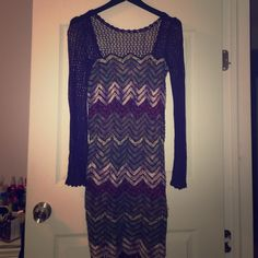 Free People Sweater Dress Really cute with tights and boots! Free People Dresses Midi