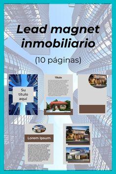 Diseño de lead magnet (10 páginas) para empresa o negocio inmobiliario. ¡Atrae clientes! Lead Magnet, Lorem Ipsum, Magnets, Design, Cover Design, Business, Social Networks, Cover Pages