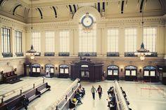 Nostalgic train station shot