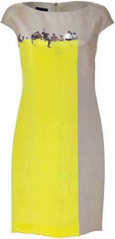 AKRIS Maracuja Viewpoint Print Silk Dress - Lyst