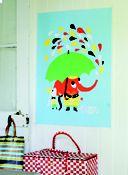 Littlephant rain poster via huset-shop