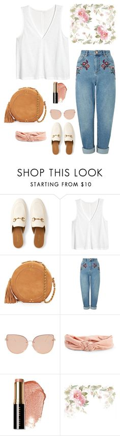 """Untitled #34"" by nandawelly on Polyvore featuring Gucci, Jérôme Dreyfuss, Miss Selfridge, Topshop, Aéropostale and Bobbi Brown Cosmetics"