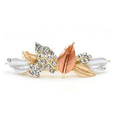 Cheap Wholesale Korea Style and Ladylike Rhinestone Embellished Varies Leaves Shape Hair Clip For Women (CHAMPAGNE) At Price 4.28 - DressLily.com