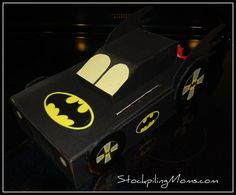 Batman Valentine box. Vern and Christian made one tonight. Ours is just a little different, they hinged the top so he could put valentines in easier. check ours out on my facebook page.