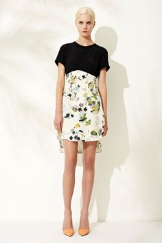 3.1 Phillip Lim Resort 2013 Collection Slideshow on Style.com   day dress black white floral