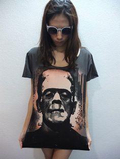 Frankenstein Clasic Monster Film Movie Rock Tshirt by sixwas9ine, $17.99