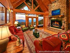Pigeon Forge Cabin - Eagle Lodge - 6 Bedroom - Sleeps 20 - Jacuzzi - Fire Pit - Home Theater