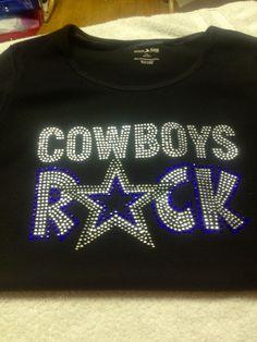 243b1ffaf Dallas Cowboys Ladies Rhinestone Bling Tops Team T Shirt Apparel V Top