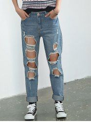 SHARE & Get it FREE | Pocket Design Broken Hole Rolled Cuff JeansFor Fashion Lovers only:80,000+ Items • New Arrivals Daily • Affordable Casual to Chic for Every Occasion Join Sammydress: Get YOUR $50 NOW!