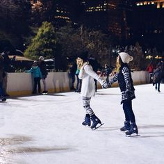 ice-skating with my bestie in central park #dontfall #nycxchristmas