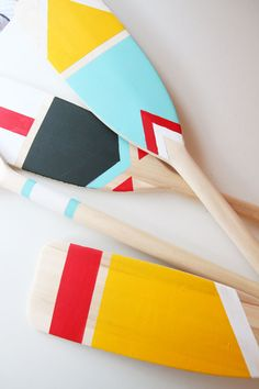 Nautical Theme Decor, Coastal Decor, Painted Oars, Hand Painted, Home Decor Furniture, Diy Painting, Decorative Items, Diy And Crafts, Easy Diy